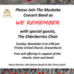 Remembrance Day Concert, Trinity United Church, Gravenhurst