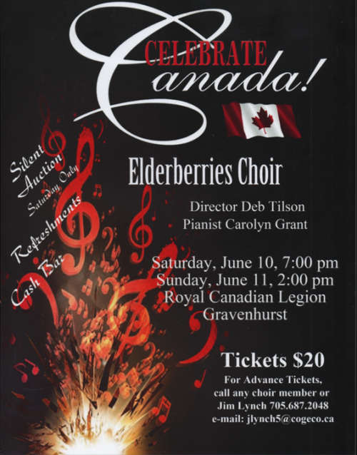 """Celebrate Canada"" Concert at Gravenhurst Legion"